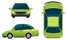 Un vehículo verde Fotografía de archivo libre de regalías
