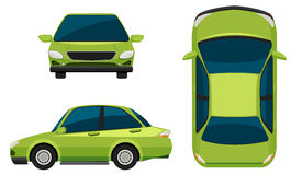 Un veicolo verde Fotografia Stock Libera da Diritti