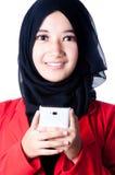 Un velo de la mujer del país de Indonesia Imagen de archivo libre de regalías
