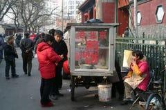 Un vendedor tradicional chino del bocado Imagen de archivo