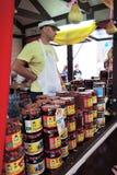 Un venditore Immagini Stock