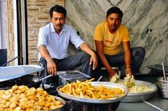 Un venditore di alimento in Pushkar, India Immagini Stock