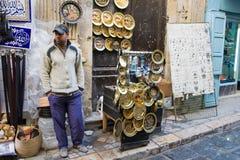 Un venditore non identificato Fotografia Stock Libera da Diritti