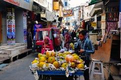 Un venditore in Pushkar, India Fotografia Stock