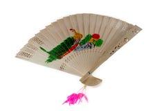 Un ventilador de madera del estilo chino Imagenes de archivo