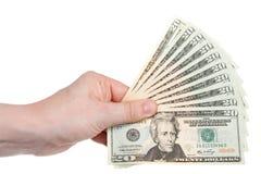 Un ventilatore di duecento dollari Immagine Stock
