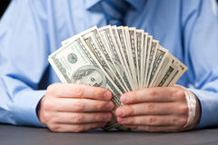 Un ventilatore di soldi immagine stock libera da diritti