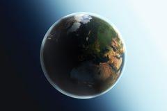un ver plus simple de nuit de cieux de la terre de jour Photos libres de droits