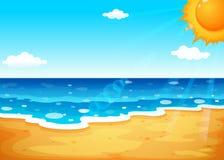 Un verano en la playa libre illustration