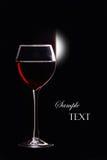 Un verre à vin avec du vin Photo libre de droits