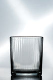 Un verre cristal vide Photo stock