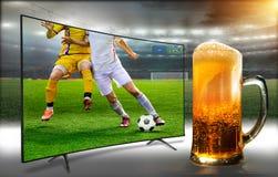 Un verre de bière fraîche et froide Images libres de droits