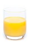 Un verre de jus d'orange Photographie stock
