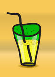Un verre de soude Photo stock