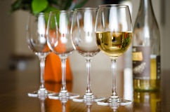 Verres de vin Photo stock
