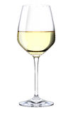Un verre de vin blanc Photo stock