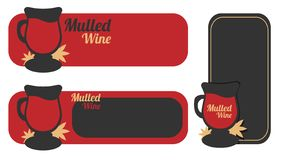 Un verre de vin chaud de boissons descripteur Illustration, style plat illustration stock