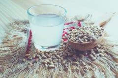 Un verre de vodka ukrainienne sur une table en bois Nourriture rustique Photographie stock libre de droits
