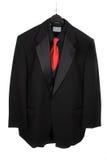 Un vestito di tre parti d'attaccatura con il legame rosso fotografie stock libere da diritti