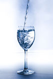 Un vetro con acqua Fotografia Stock Libera da Diritti