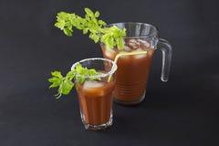 Un vetro con un cocktail Immagine Stock Libera da Diritti