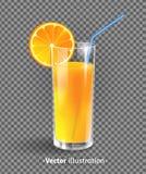 Un vetro del succo di arancia Fotografia Stock Libera da Diritti