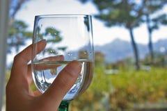 Un vetro di acqua Fotografie Stock Libere da Diritti
