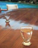 Un vetro di acqua Fotografie Stock