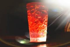 Un vetro di birra brillante fotografia stock libera da diritti