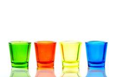 Un vetro di quattro colori Fotografia Stock