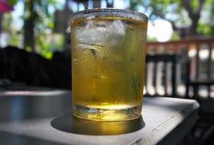 Un vetro di tè verde fotografia stock