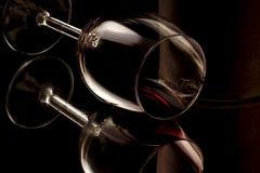 Un vetro di vino Immagini Stock