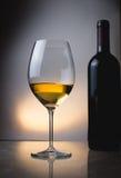 Un vetro di vino bianco Fotografie Stock Libere da Diritti