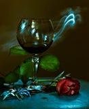 Un vetro di vino rosso Fotografia Stock