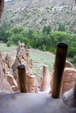 Un vew da una dimora di caverna antica Fotografia Stock