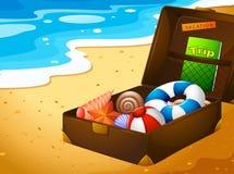 Un viaje de las vacaciones de verano stock de ilustración