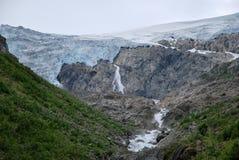 Un viaje en Folgefonna en Noruega Imagenes de archivo