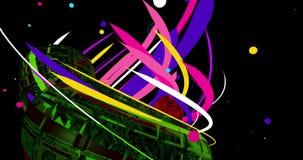 Un video 4K con di un modello colorato multi psichedelico illustrazione di stock