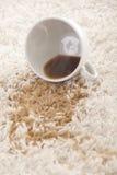 Limpieza de la alfombra Imagen de archivo libre de regalías