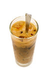 Un vidrio de café helado de la leche Fotos de archivo libres de regalías