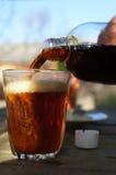 Un vidrio de cerveza Foto de archivo libre de regalías