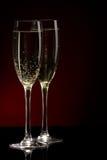 Un vidrio de champán Fotografía de archivo libre de regalías