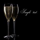 Un vidrio de champán Imagen de archivo libre de regalías