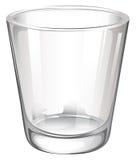 Un vidrio de consumición llano ilustración del vector