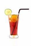Un vidrio de té del limón del hielo, Foto de archivo libre de regalías