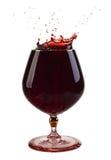 Un vidrio de vino fotos de archivo