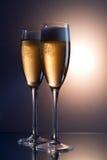 Un vidrio de vino espumoso Imagen de archivo libre de regalías