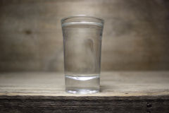 Un vidrio de vodka Imagen de archivo
