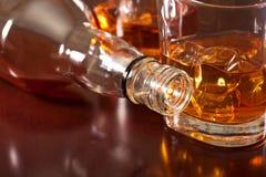 Un vidrio de whisky fotos de archivo