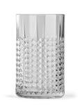 Un vidrio vacío para las bebidas del frío diseñó por Sarah Fager Imagenes de archivo